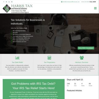 ArchiveBay.com - harristaxandfinancials.com - Tax Debt Solutions for Businesses and Individuals