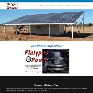 Platypus Power – Micro Hydro Electric Generator Factory