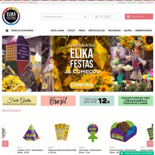 ArchiveBay.com - elikafestas.com.br - Página Inicial - Elika Festas