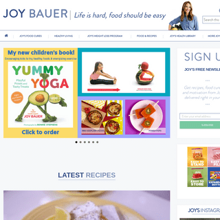Joy Bauer Official Site - Nutrition and Weight-Loss Expertise You Can Trust