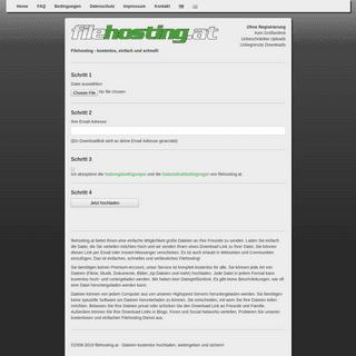filehosting.at - kostenlos, einfach und schnell Dateien hochladen, weitergeben und sichern