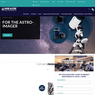 Meade Instruments Telescopes, Solar Telescopes, Binoculars, Spotting Scopes
