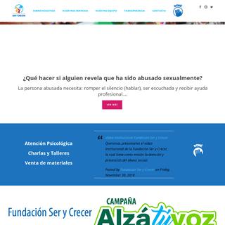 ArchiveBay.com - serycrecer.com - Fundación Ser y Crecer