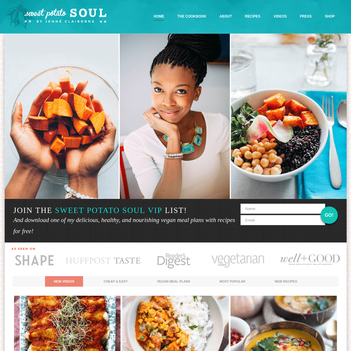 Sweet Potato Soul by Jenné Claiborne - A vegan food and lifestyle blog, cookbook, and cooking show! Featuring easy, delicious,