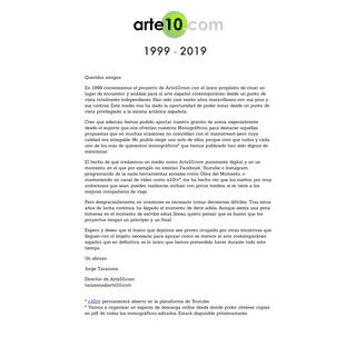 Arte10.com - Portal de arte contemporáneo español. 1999-2019