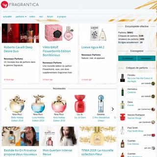 Magazine de Parfums, Critiques de Parfums et Communauté en ligne - Fragrantica.fr