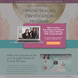 Home - Love & Light School of Crystal Therapy