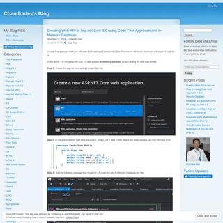 Chandradev's Blog - Asp.net,MVC,C#,JavaScript,Jquery,LINQ,SqlServer,WCF,HTML 5.0,CSS 3.0,AngularJs