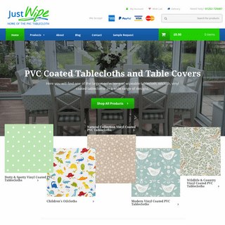 PVC Coated Tablecloths, Oilcloths & Table Covers - Just Wipe