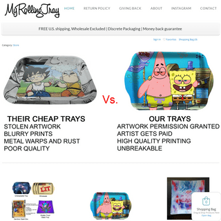 Best custom printed rolling trays - myrollingtray.com - customrollingtrays.com