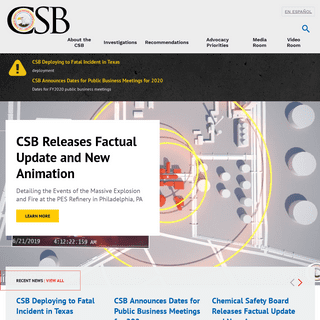 U.S. Chemical Safety and Hazard Investigation Board - CSB