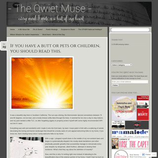 ArchiveBay.com - theqwietmuse.com - The Qwiet Muse - Every word I write is a beat of my heart . . .