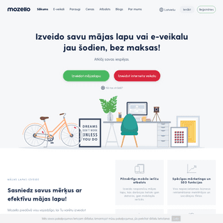 Mozello - mājas lapas izveide paša spēkiem, ātri, bez maksas