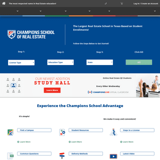Champions School of Real Estate - Licensing & Education