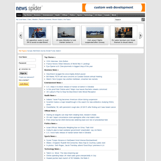news spider - we deliver the news