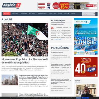 ArchiveBay.com - algerie1.com - Algérie 1 - Actualités, informations politiques et économiques finance algériennes en direct