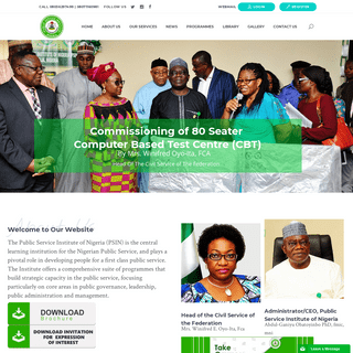 Public Service Institute of Nigeria – Leading - Learning - Innovating