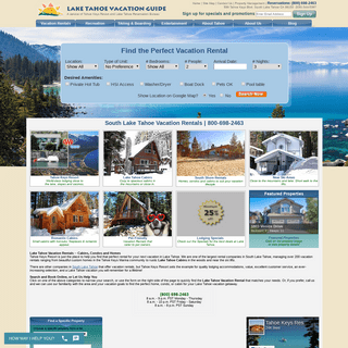 South Lake Tahoe Vacation Rentals - Rent Vacation Homes & Cabins in Lake Tahoe