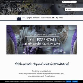 Gadoi-oli essenziali biologici italiani certificati