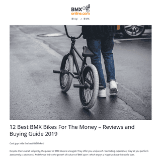 12 Best BMX Bikes For The Money – Reviews and Buying Guide 2019