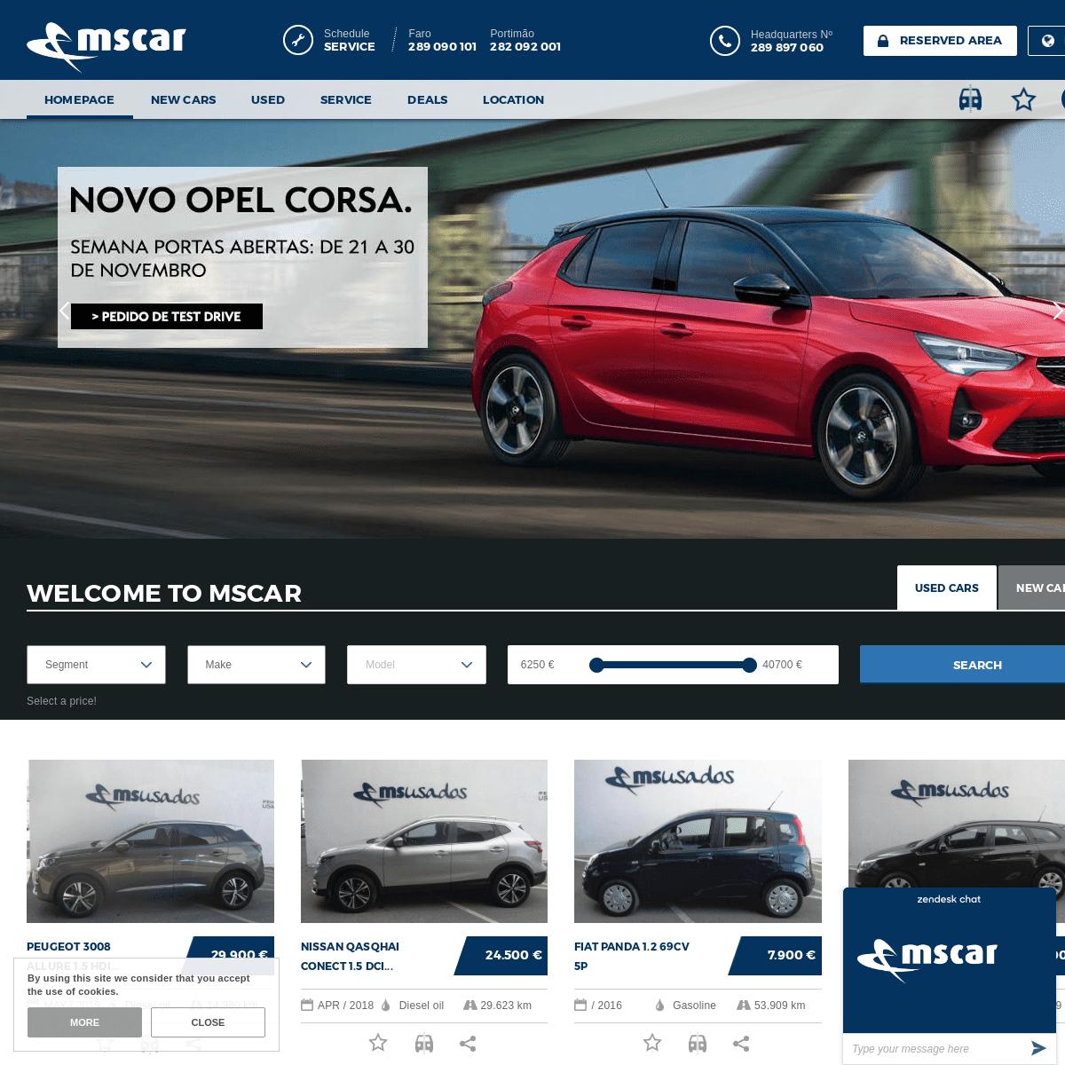MSCAR - New Cars, Used Cars, Service and Repair Algarve - MSCAR