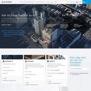 Autodesk - 3D-program for konstruksjon, byggeteknikk og underholdning