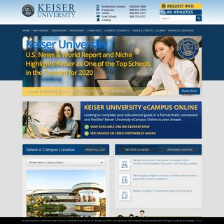 Welcome to Keiser University - Universities in Florida