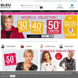 ArchiveBay.com - bleu-bonheur.fr - Bleu Bonheur Fr - La mode senior grandes tailles et petits prix