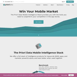 ArchiveBay.com - prioridata.com - PRIORI DATA - Mobile App Data Intelligence, ASO Tool & Market Research
