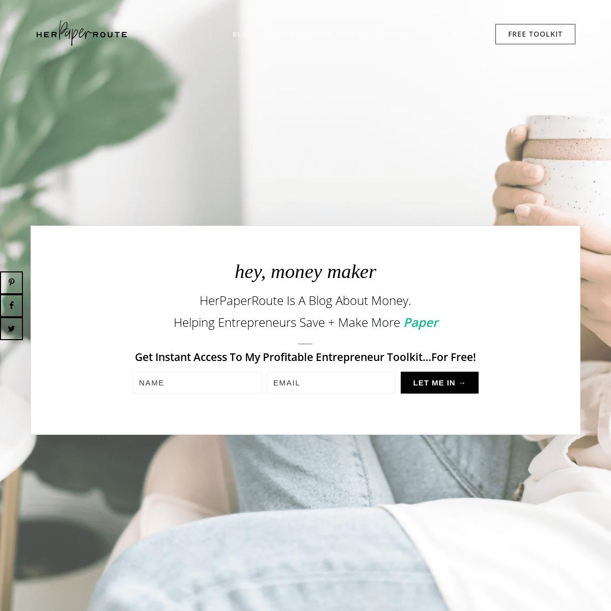 Money & Entrepreneurship Blog