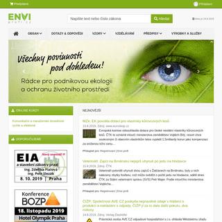 ArchiveBay.com - enviprofi.cz - Rádce pro podnikovou ekologii, odpady, ochranu ovzduší, EMS, nakládání s chemickými látkami a integrovanou prevenci.