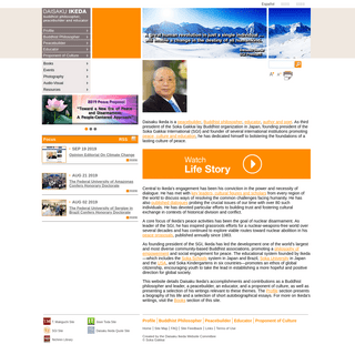 Home - Daisaku Ikeda Website