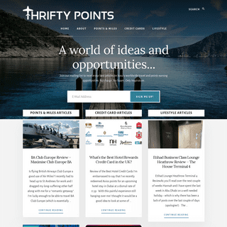 Thrifty Points - Flying Further for Less
