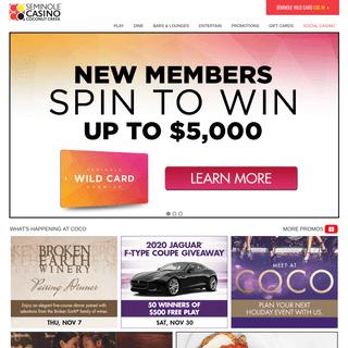 ArchiveBay.com - seminolecoconutcreekcasino.com - Seminole Casino Coconut Creek