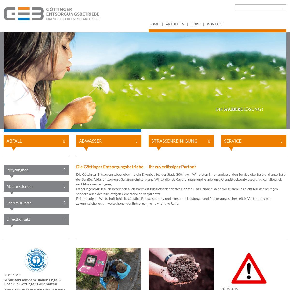 ArchiveBay.com - geb-goettingen.de - GEB Göttinger Entsorgungsbetriebe - Startseite