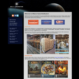 Alliance Game Distributors, Inc. - Welcome to the Alliance Games Website