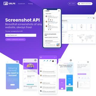 URLPX - The Free Website Screenshot API