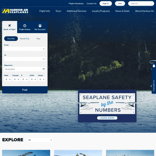 Harbour Air Seaplanes- World's Largest Seaplane Airline – Since 1982 – Harbour Air – Flights from Vancouver and the Lower