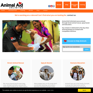 Animal Aid Unlimited – Hospital, rescue center and sanctuary for street animals in Udaipur, Rajasthan, India. Volunteers and v