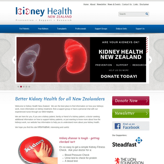 Kidney Health New Zealand