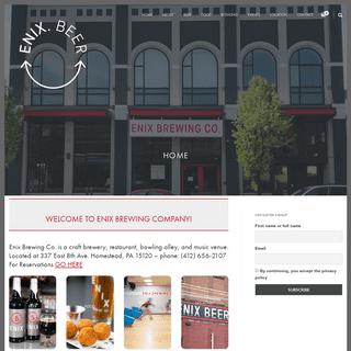 Enix Brewing Company – gustatory entertainment