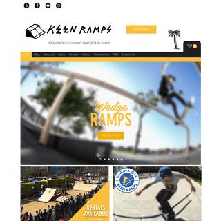 ArchiveBay.com - keenramps.com - Skateboard Ramps, Rails, Half Pipes, Boxes & Mini Ramps-Long Beach,CA