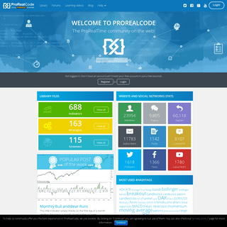 ProRealTime codes and forums- automated trading-indicators-screener