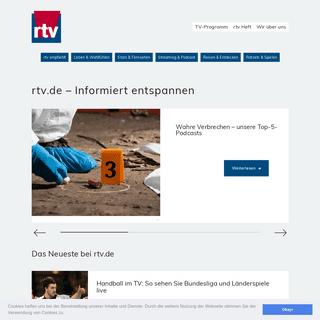 Willkommen bei rtv.de – Informiert entspannen