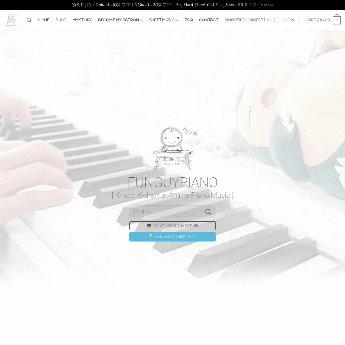 Funguypiano - K-pop, K-drama, Anime Piano Sheet