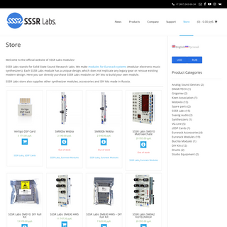 SSSR Labs – Synthesizer modules and DIY Kits