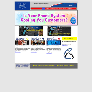 Sacramento Phone Systems, Business Phone Systems, Telephone Systems, Sacramento - Webco