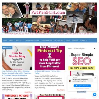PotPieGirl.com - Stop the Madness! Internet Marketing Help, Affiliate Marketing Tips, and Pinterest Strategies from PotPieGirl -