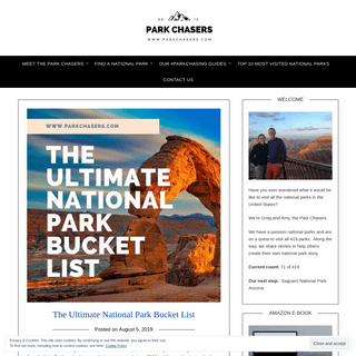ArchiveBay.com - parkchasers.com - Park Chasers - Travel Along One Couple's Quest to Visit all 419 National Parks
