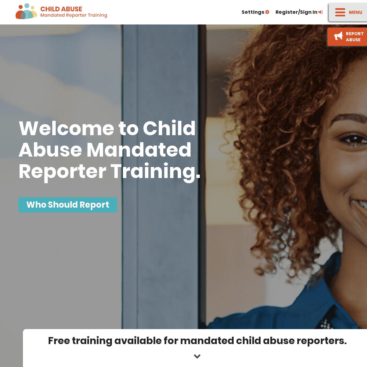 Child Abuse Mandated Reporter Training
